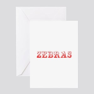 Zebras-Max red 400 Greeting Cards