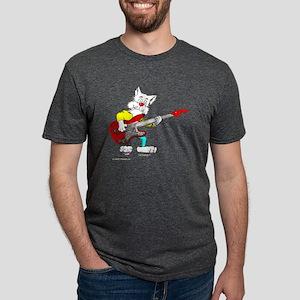 Bass Guitar Cat for Dark Apparel T-Shirt