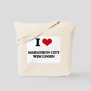 I love Marathon City Wisconsin Tote Bag