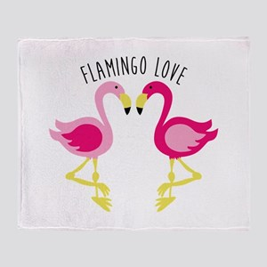 Flamingo Love Throw Blanket