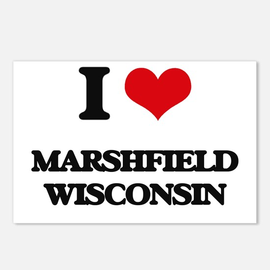 I love Marshfield Wiscons Postcards (Package of 8)