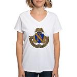 USS JOSEPHUS DANIELS Women's V-Neck T-Shirt