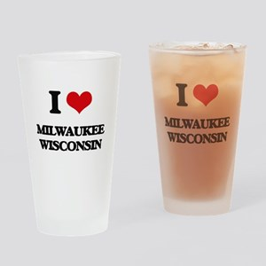 I love Milwaukee Wisconsin Drinking Glass