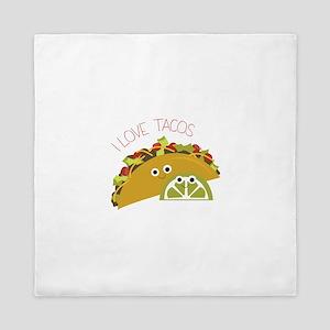 I Love Tacos Queen Duvet
