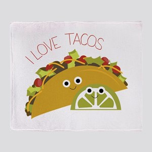 I Love Tacos Throw Blanket