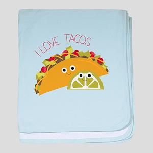 I Love Tacos baby blanket