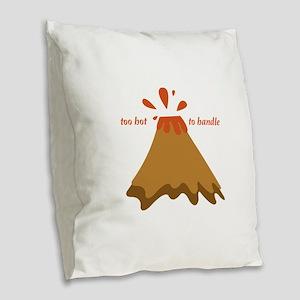 Too Hot Burlap Throw Pillow