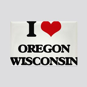 I love Oregon Wisconsin Magnets