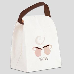 Tea Talk Canvas Lunch Bag