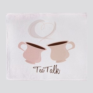 Tea Talk Throw Blanket