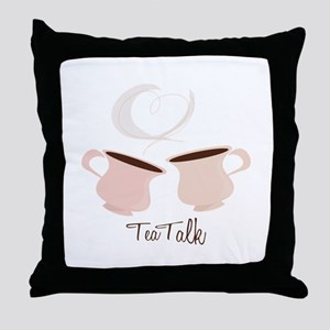 Tea Talk Throw Pillow
