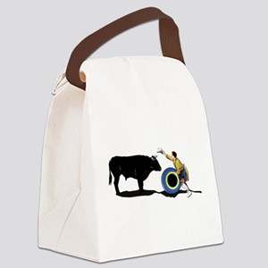 Clown and Bull-No-Text Canvas Lunch Bag