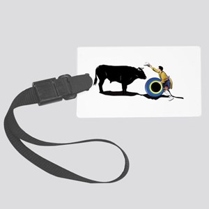 Clown and Bull-No-Text Large Luggage Tag