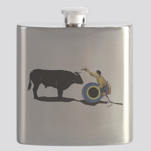 Clown and Bull-No-Text Flask