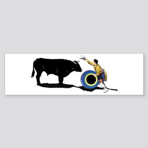 Clown and Bull-No-Text Sticker (Bumper)