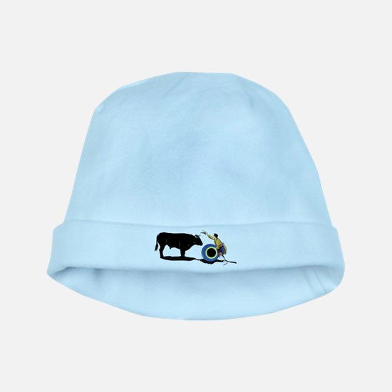 Clown and Bull-No-Text baby hat