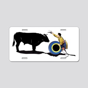 Clown and Bull-No-Text Aluminum License Plate
