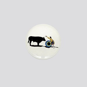 Clown and Bull-No-Text Mini Button