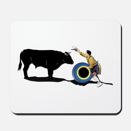 Clown and Bull-No-Text Mousepad