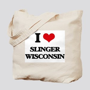 I love Slinger Wisconsin Tote Bag