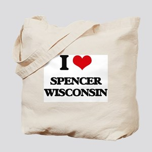 I love Spencer Wisconsin Tote Bag