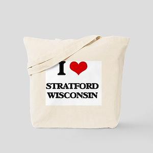 I love Stratford Wisconsin Tote Bag