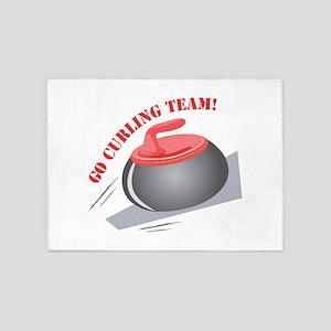 Go Curling Team 5'x7'Area Rug