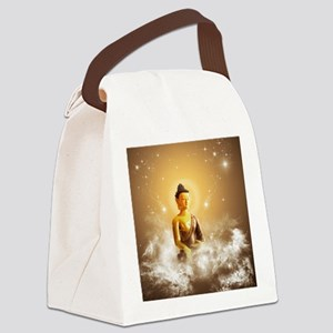 Buddha with clouds and stars Canvas Lunch Bag