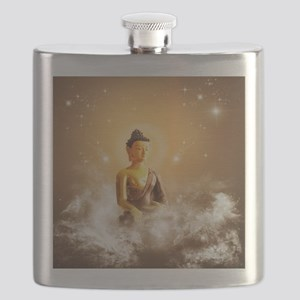 Buddha with clouds and stars Flask