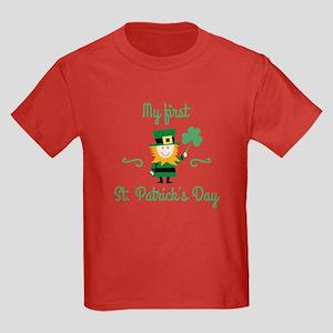 My First St. Patrick's Day Kids Dark T-Shirt