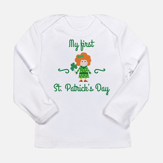 My First St. Patrick's Day Long Sleeve Infant T-Sh