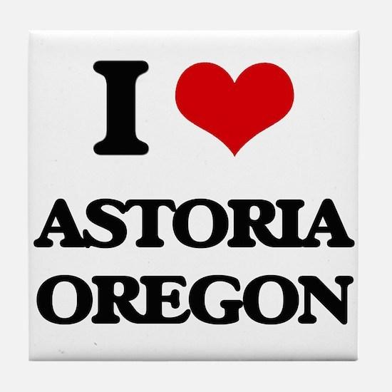 I love Astoria Oregon Tile Coaster