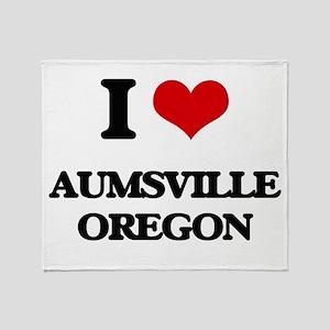 I love Aumsville Oregon Throw Blanket