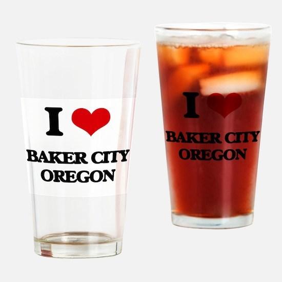 I love Baker City Oregon Drinking Glass