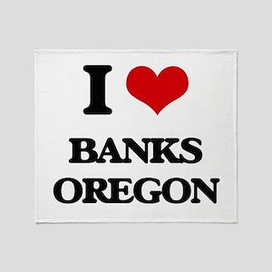 I love Banks Oregon Throw Blanket