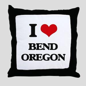I love Bend Oregon Throw Pillow