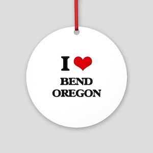 I love Bend Oregon Ornament (Round)