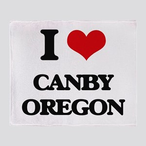 I love Canby Oregon Throw Blanket