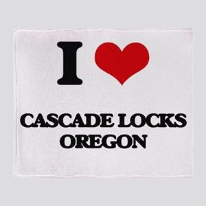 I love Cascade Locks Oregon Throw Blanket