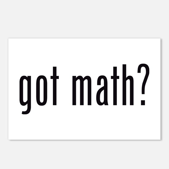 got math? Postcards (Package of 8)