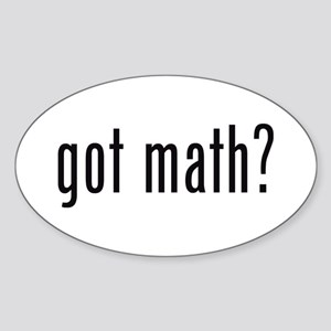 got math? Oval Sticker