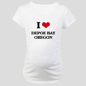 I love Depoe Bay Oregon Maternity T-Shirt