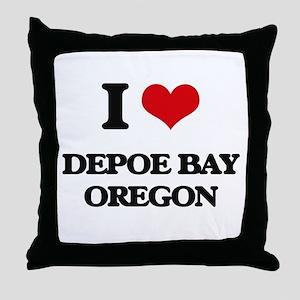 I love Depoe Bay Oregon Throw Pillow