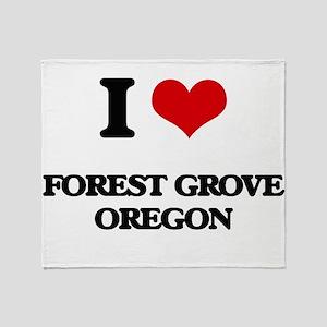 I love Forest Grove Oregon Throw Blanket