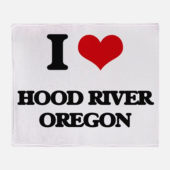 I love Hood River Oregon Throw Blanket