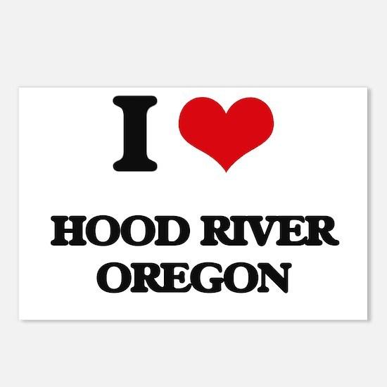 I love Hood River Oregon Postcards (Package of 8)