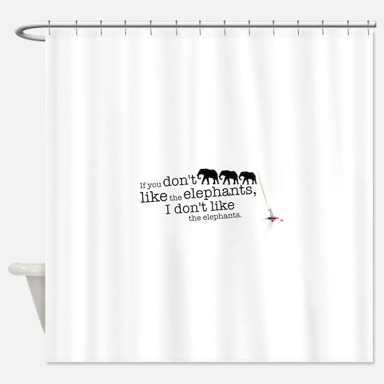 If you don't like the elephants Shower Curtain