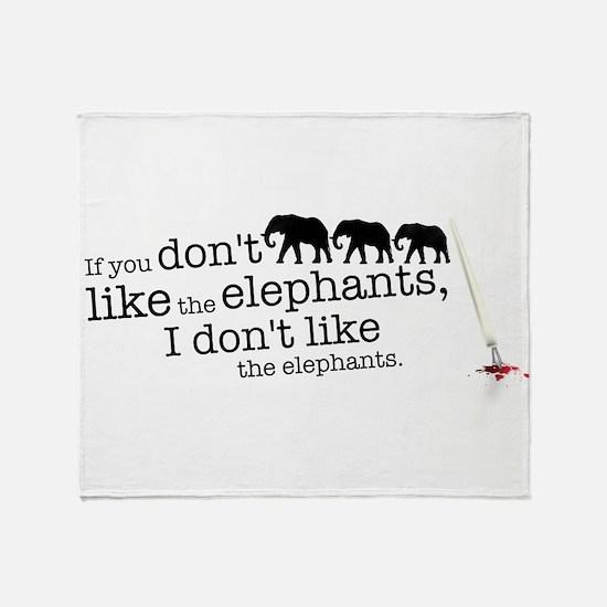 If you don't like the elephants Throw Blanket