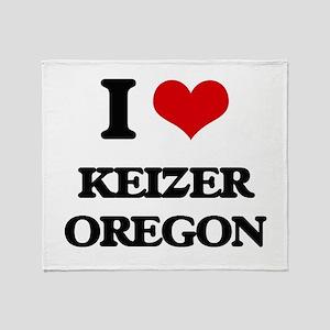 I love Keizer Oregon Throw Blanket