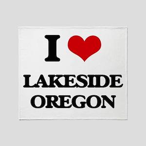 I love Lakeside Oregon Throw Blanket